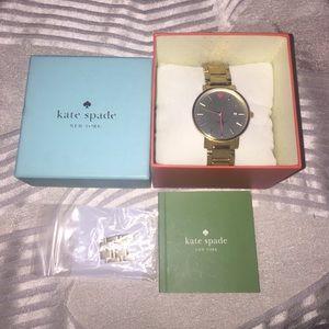 Kate Spade Gramercy Grand Calendar Date gold watch